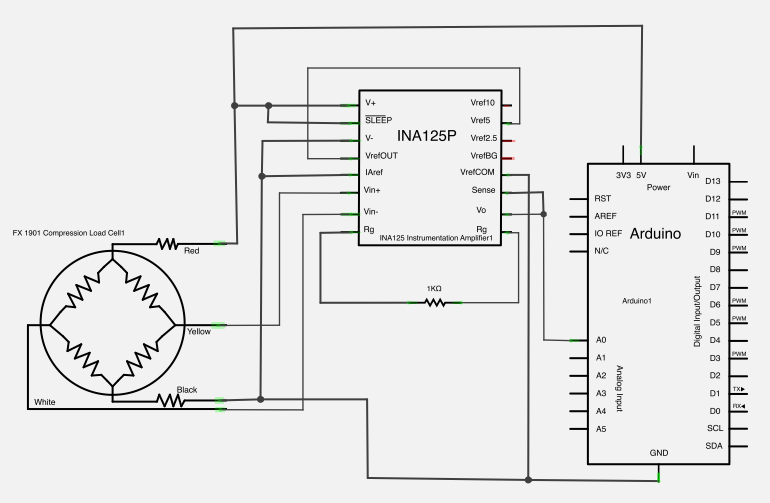 Load cell on how to make circuit diagrams