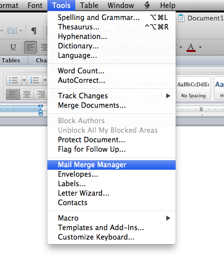 Making Labels In Office 2011 On A Mac
